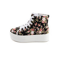 Floral Canvas Platform Sneaker: Charlotte Russe