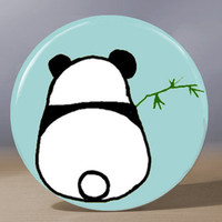 Pocket Mirror - Shy Panda 3.5 inch Pocket Mirror