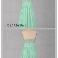 Stunning A-line Sweetheart knee-length bridesmaid homecoming evening Prom Dress--Custom make