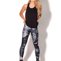 Birth of Venus 2.0 Black Leggings | Black Milk Clothing
