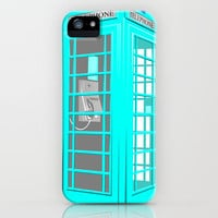 CYAN PHONE BOOTH iPhone Case by Ylenia Pizzetti | Society6