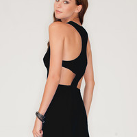Motel Rowen Cut Out Playsuit in Black
