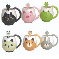 Animal Round Mug &amp; Spoon Set