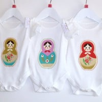 Matryoshka Russian Doll Romper Onesuit Newborn To 18M | Luulla