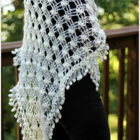 NEW Dainty Loops Shawl Crochet Pattern PDF by bonitapatterns