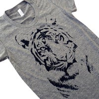 Tiger T-Shirt - Big Cat Ladies SOFT American Apparel Shirt - Available in sizes S, M, L, XL