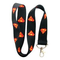 Amazon.com: Superman Black Lanyard Keychain Holder: Everything Else