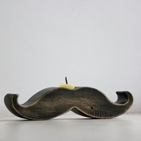 Moustache / mustache candle holder by DesignAtelierArticle