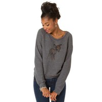 Fleece Long Sleeve Bambi Tee from Disney by: Patterson J. Kincaid for Women