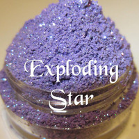 NEW Exploding Star Bright Periwinkle Purple Star Glitter Mineral Eyeshadow Mica Pigment 5 Grams Lumikki Cosmetics