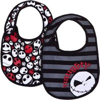 Jack Skellington Bib Set for Infants and Toddlers -- 2-Pc.
