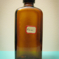 Vintage Glass Fixer Bottle Darkroom Days by timepassagesshop