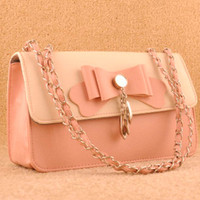 Casual Cute Bowknot Women Trendy Messenger Handbag Shoulder Bag
