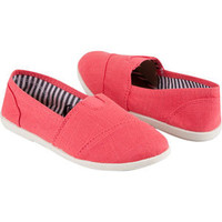 Soda Stretch Girls Linen Shoes Coral  In Sizes