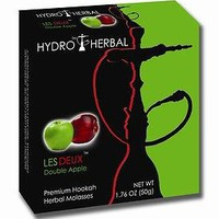 Hydro Herbal 50g Double Apple Hookah Shisha, Tobacco Free Molasses, Single Pack