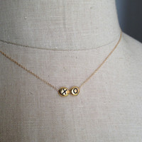 Hugs and Kisses Necklace XOXO