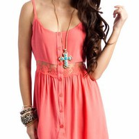 lace cami dress &amp;#36;36.30 in BLUE CORAL - Casual | GoJane.com