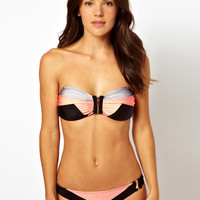 River Island Dakota Colour Block Bikini at ASOS