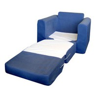 Microsuede Chair Sleeper - Blue