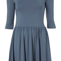 Jersey 3/4 Sleeve Skater Dress - Dresses - Apparel - Topshop USA