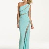 Prom Dresses 2013 - Long One Shoulder Prom Dress with Illusion Inserts from Camille La Vie and Group USA