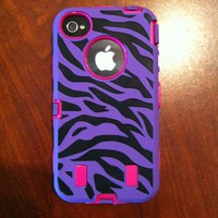 Black/Purple Zebra &amp; Hot...