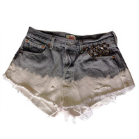 Serge and Destroy — Cheetah Pocket Levi's Shorts Grey Pink