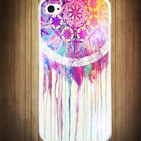 Colors Dripping Dreamcatcher iPhone Case - Rubber iPhone 4 Case