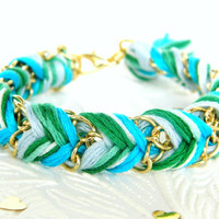 Frosted Mint  Bright Skies Green Swirl & Neon by HelloZee on Etsy