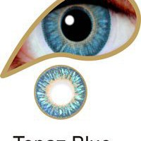 Amazon.com: iColor Complete Contact Lenses - Topaz Blue: Health &amp; Personal Care