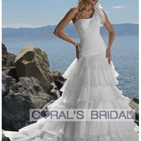 WD11250 one shoulder destination wedding dresses coralsbridal wedding dress