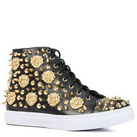 Jeffrey Campbell The Adams Lion Sneaker in Black and Gold : Karmaloop.com - Global Concrete Culture