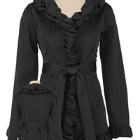Belted Ruffle Trench Coat - maurices.com