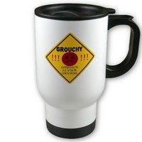 Grouchy. Approach at your own risk. Coffee Mug from Zazzle.com