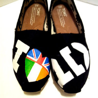SALE- One Direction Painted TOMS Version 3