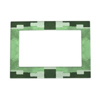 Shades of Green Photo Frame Magnets from Zazzle.com