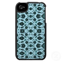 Vintage Floral in Aqua and Dark Teal iPhone 4 Covers from Zazzle.com