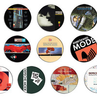 Depeche Mode black celebration, music for the masses pin pinback button BADGE SET ( 10 badges )