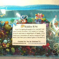 KIDDIE KITS  BEADING Kits for ChildrenBlue by BeadedDelightsByStef