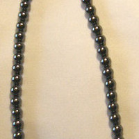 Handcrafted Hematite Necklace and ring by BeadedDelightsByStef