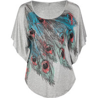 FULL TILT Feather Batwing Womens Circle Top 191771131 | tops | Tillys.com