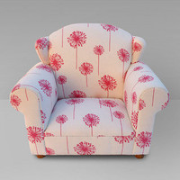 Funky Kids by Mauricio&#x27;s Furniture - Children&#x27;s Pink Dandelion Wingback Chair 