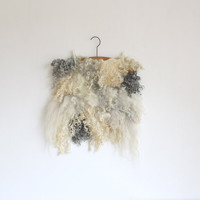 Raw woll wallhanging felted