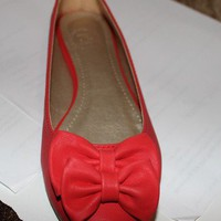 Hot red flats shoes