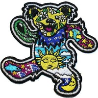 Grateful Dead Daisy Sun Bear Embroidered iron on Patch NS01