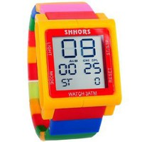 Baolihao New Fashion Plastic Digital Touch Multicoloured Wrist Watch WTH0421