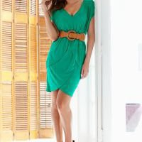 V-neck peplum dress in the VENUS Line of Dresses for Women