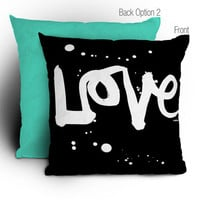 DENY Designs Home Accessories | Kal Barteski Love Black Throw Pillow