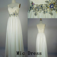 Custom Floor-length Chiffon Sashes Long Prom/Evening/Party/Homecoming/Bridesmaid/Cocktail/Formal Dress