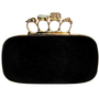 GYPSY WARRIOR - Black Skull Knuckle Clutch